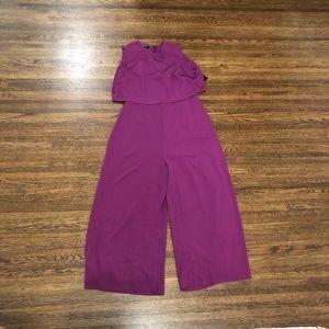 NWOT Lulu's purple jumpsuit